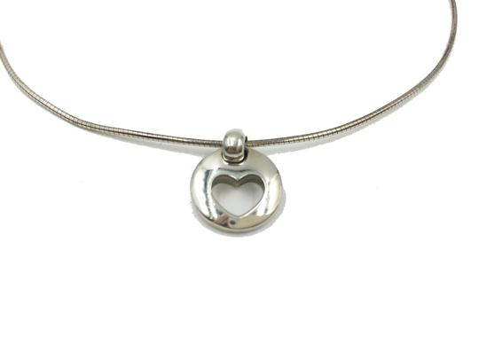 Tiffany & Co. 925 Silver Heart in Circle Necklace Image 1