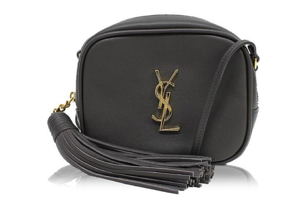 2f37e439d669 Saint Laurent Monogram Ysl Women s Blogger 425317 Gray Leather Cross Body  Bag