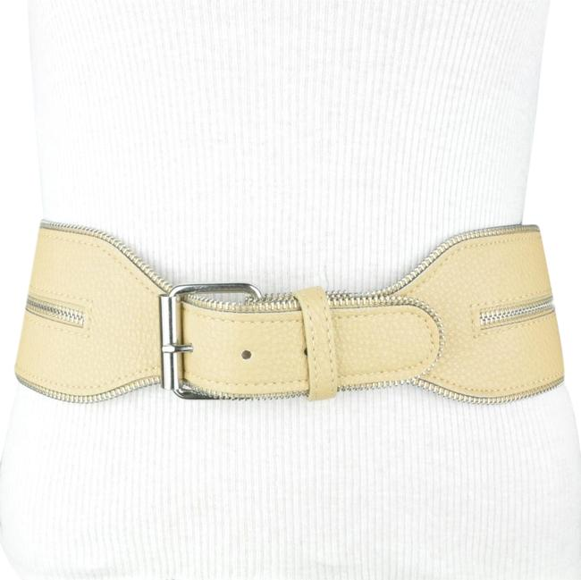 Item - Beige Taupe Wide Waist Faux Leather Small Belt