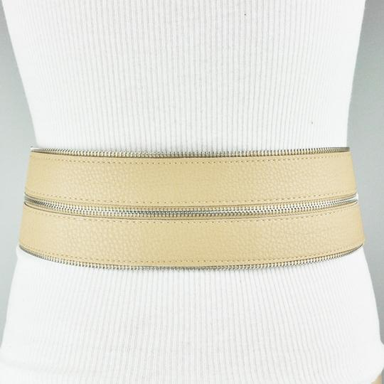 BCBGMAXAZRIA Taupe Wide Waist Faux Leather Belt Small Image 1
