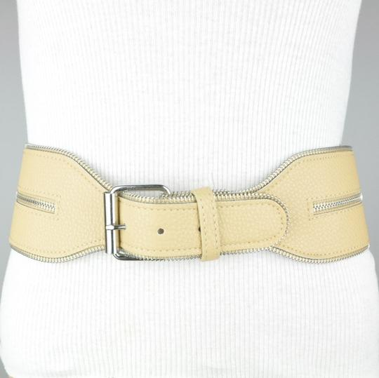 BCBGMAXAZRIA Taupe Wide Waist Faux Leather Belt Small Image 2
