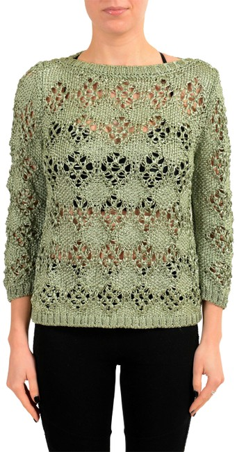 Preload https://img-static.tradesy.com/item/23517488/just-cavalli-green-kj-12124-sweaterpullover-size-4-s-0-1-650-650.jpg