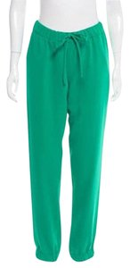 P.A.R.O.S.H. Silk Track Meghan Markle Relaxed Pants GREEN