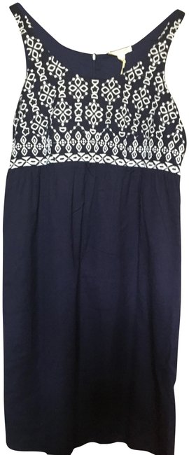 Preload https://img-static.tradesy.com/item/23517763/blue-embroidered-shift-short-casual-dress-size-4-s-0-1-650-650.jpg