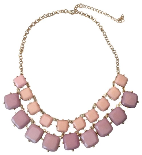 Preload https://img-static.tradesy.com/item/23517790/jcrew-lilac-and-soft-pink-on-gold-tone-metal-necklace-0-1-540-540.jpg
