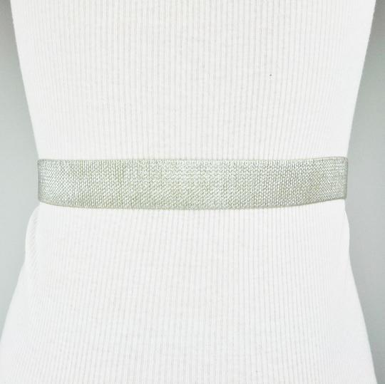 BCBGeneration Silver Stretch Belt XS/S Image 1