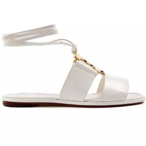 Tory Burch Gemini White Sandals