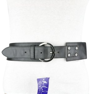 Miley Cyrus & Max Azria Black Chain Faux Leather Belt