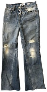 RE/DONE Flare Leg Jeans-Distressed