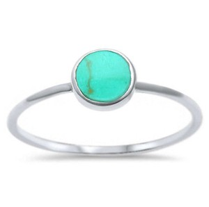 9.2.5 Adorable turquoise inlay ring size 6