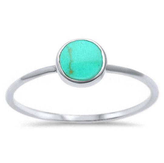 9.2.5 Adorable turquoise inlay ring size 6 Image 1
