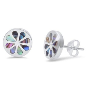 9.2.5 Adorable unique shell inlay flower earrings