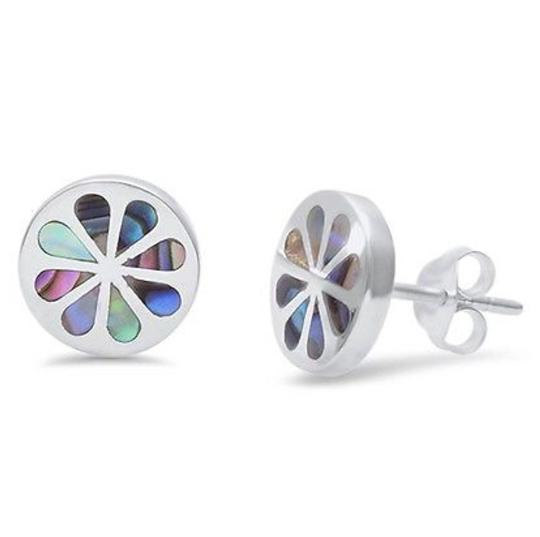 9.2.5 Adorable unique shell inlay flower earrings Image 2