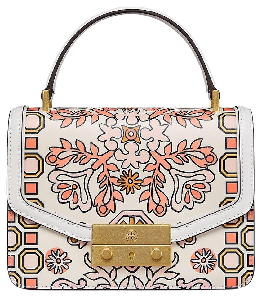 d2ac29c270b Tory Burch Juliette Printed Top Handle Mini Hicks Garden Leather ...
