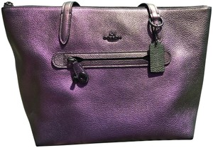 Coach Irredescent Taylor Tote in Purple Hologram Metallic