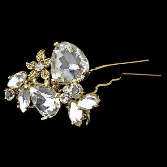 Elegance by Carbonneau Silver Or Gold Rhinestone Pin Hair Accessory Image 1