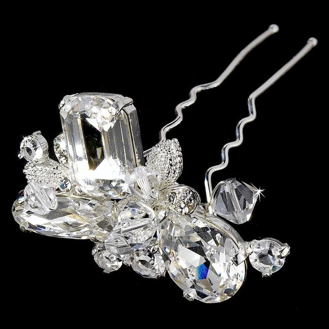 Item - Silver Or Gold Swarovski Beads with Rhinestone Pin Hair Accessory