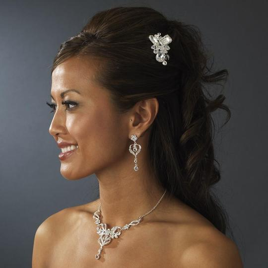 Elegance by Carbonneau Silver Or Gold Swarovski Beads with Rhinestone Pin Hair Accessory Image 2