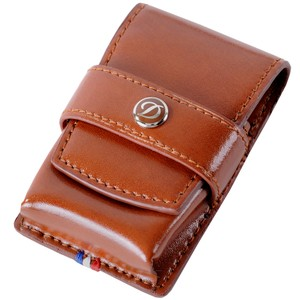S.T. Dupont S.T. Dupont Lighter Case, Leather, Soft, Flap tuck, Brown, 180124
