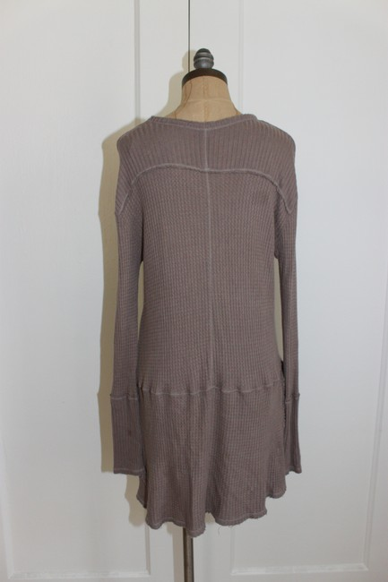 Free People Sunset Park Thermal Waffle T Shirt taupe Image 1