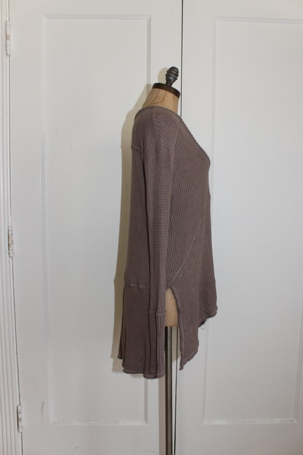 Free People Sunset Park Thermal Waffle T Shirt taupe Image 2