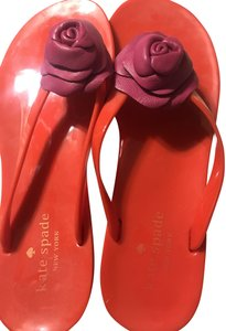 Kate Spade Red and hot pink Sandals