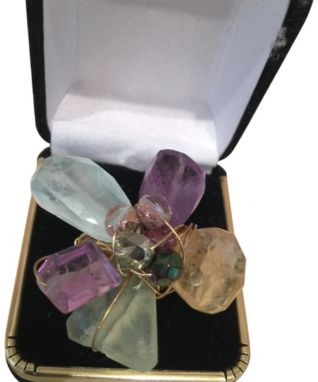Preload https://img-static.tradesy.com/item/23518471/lavender-and-pale-green-contemporary-ring-0-1-540-540.jpg