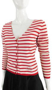 Blumarine Striped Vintage Sailor Crystal Cardigan