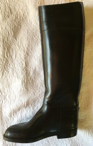 AIGLE Leather Interior Waterproof Hard To Find Size Black Boots