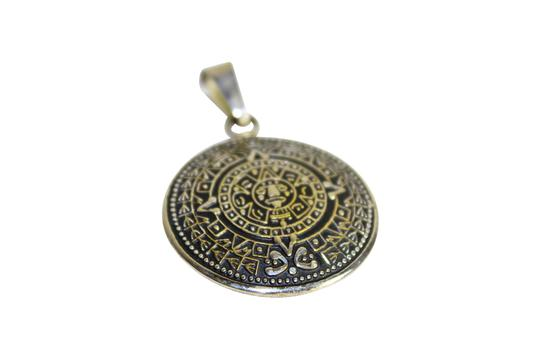 Preload https://img-static.tradesy.com/item/23518839/silver-pre-owned-aztecmayan-sun-calendar-pendant-necklace-medallion-0-0-540-540.jpg