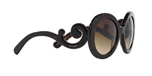 Prada PRADA BAROQUE ROUNDED SUNGLASSES PR 27NS TORTOISE FREE 3 DAY SHIPPING