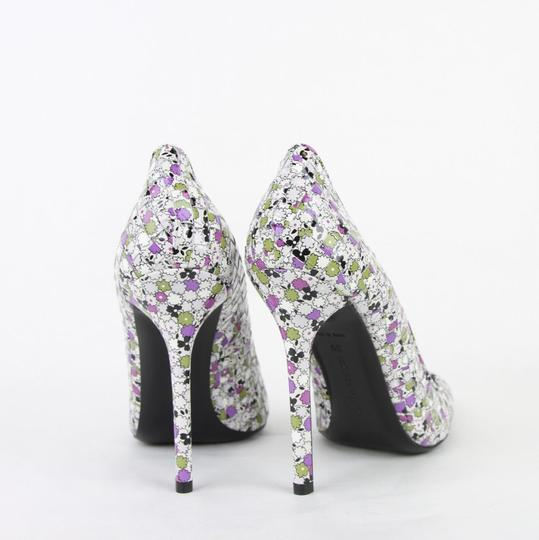 Bottega Veneta Women Green/Purple Leather Floral Green/Purple Pumps Image 4