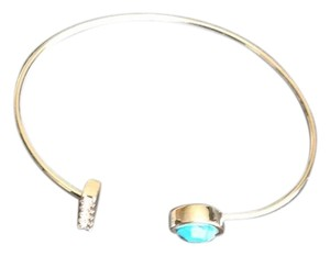 Jules Smith Jules Smith Pave and Turquoise Silver Cuff