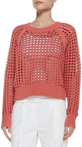 Rebecca Taylor Lattice-stich Croped Knit Crochet Sweater
