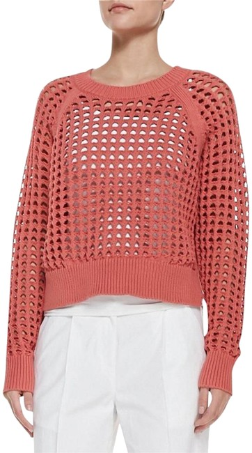 Preload https://img-static.tradesy.com/item/23518972/rebecca-taylor-coral-lattice-stitch-cropped-knit-sweaterpullover-sweaterpullover-size-2-xs-0-1-650-650.jpg