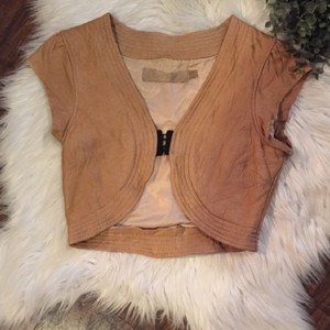 DOMA Tan Leather Jacket