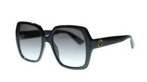 Gucci Gucci Bee Women Sunglasses GG0096S 001 Black Gray Gradient Lens