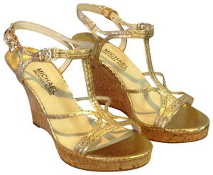 MICHAEL Michael Kors Pale Gold Wedges