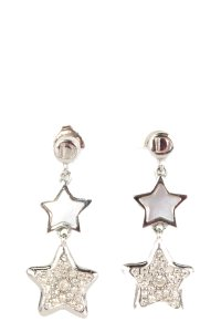 Dior Christian Dior Silver Star Drop Earrings