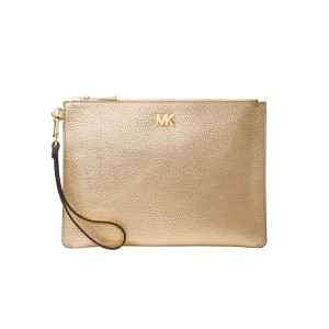 MICHAEL Michael Kors 32s8mf9p2m 191935694607 Wristlet in Pale Gold