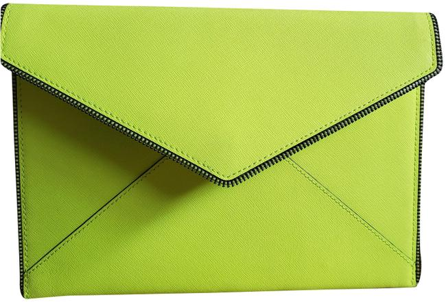 Item - Envelope Neon Yellow Leather Clutch