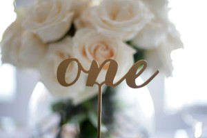 Freestanding Gold Table Numbers