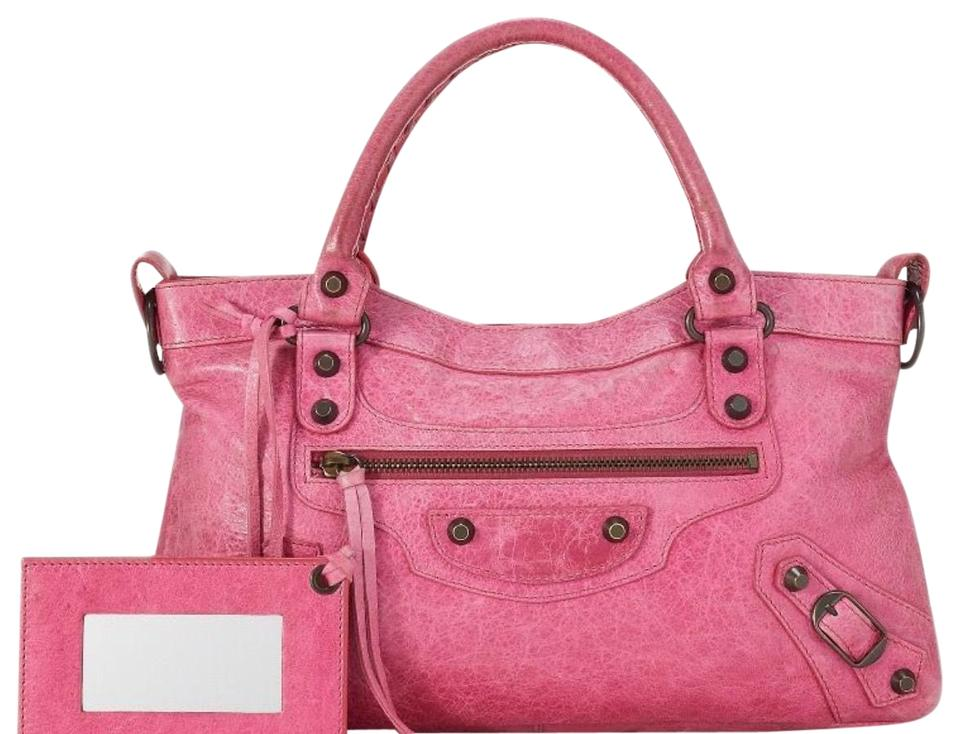 6b87e46a382 Balenciaga Classic First Chevre 2way Pink Leather Satchel - Tradesy