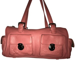 Maxx New York Leather Milti-pocket Studded Satchel in Pink