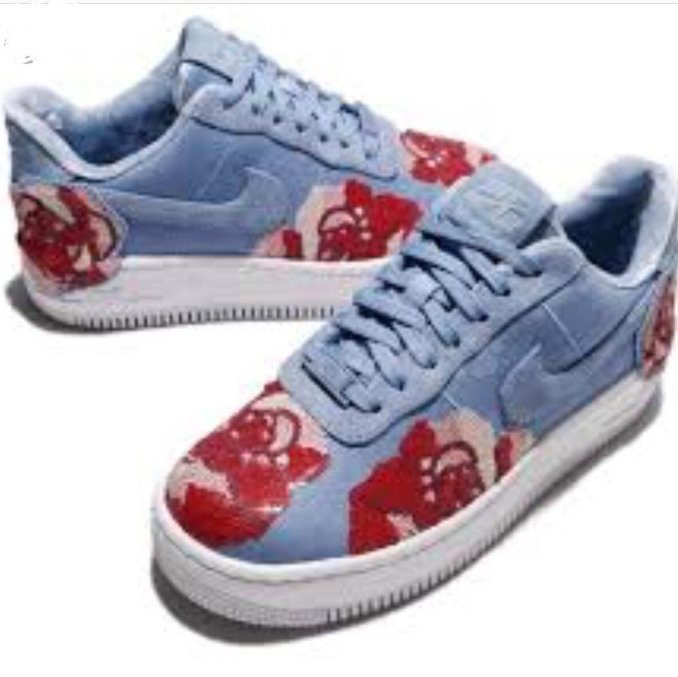 7db831c6e57 Nike Blue and Red Air Force 1 Platform Sneakers Size US 6.5 Regular ...