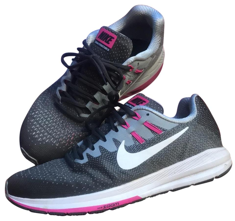 low priced 840e2 98a76 Nike Grey Pink Zoom Structure 20 Sneakers Size US 9.5 Regular (M, B) 72%  off retail