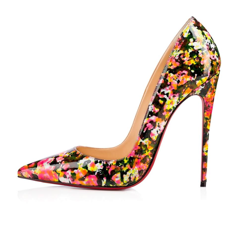 a0c2f72754d Christian Louboutin Multicolor So Kate 120 Patent Leather Granite Stiletto  Pumps