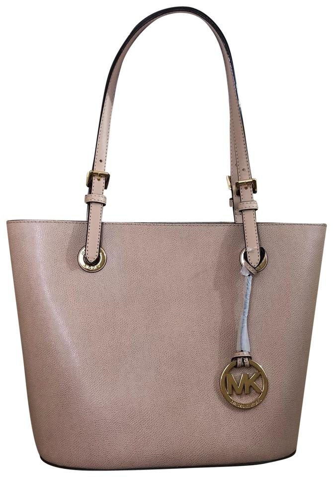 cb072bd1d86b MICHAEL Michael Kors Set Purse Medium Blush Leather Tote - Tradesy