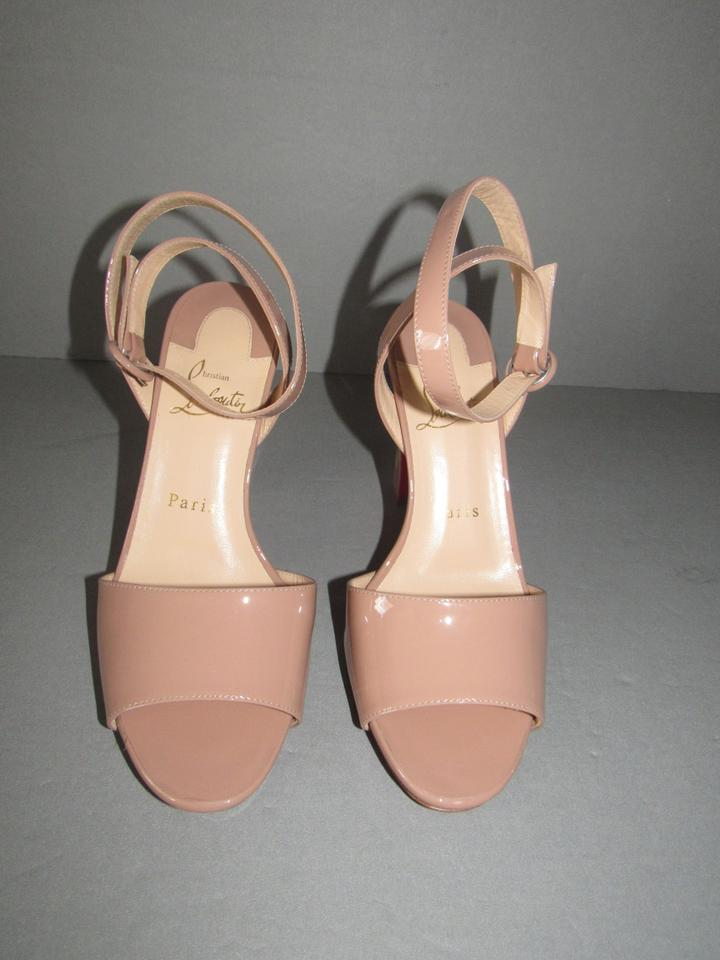 8cb43b7880d Christian Louboutin Nude New Havana Forties 100 Patent Leather Open Toe  Sandals Size EU 37 (Approx. US 7) Regular (M, B) 27% off retail