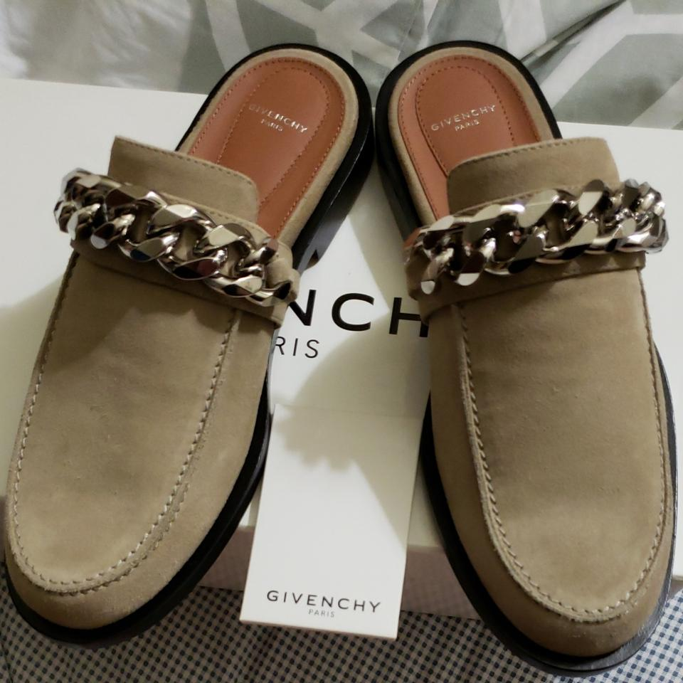 803271548d45 Givenchy Beige Camel Chain Loafer Mules Slides Size EU 39 (Approx ...